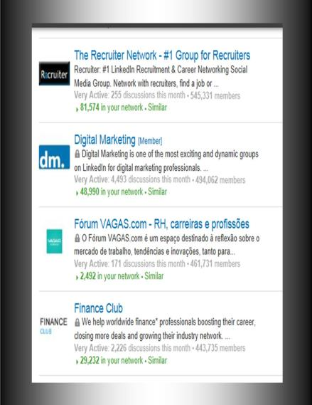 Top LinkedIn Groups 7...10