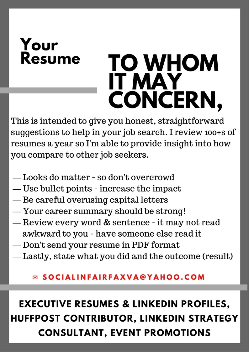 effective resume tips by carla deter to whom it may